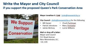 New Westminster Heritage Preservation Society - Queen's Park HCA